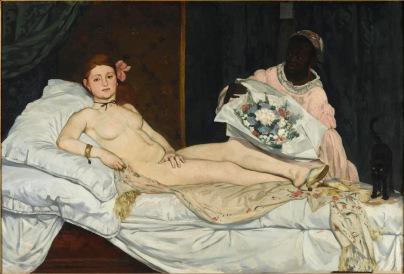 """""""Olympia"""", eines der Hauptwerke von Edouard Manet, entstanden 1863. Es wird heute im Musste d'Orsay ausgestellt. Copyright:ARTE France / © Patrice Schmidt/MusÈe d'Orsay distribution RMN"""