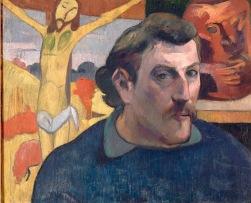 """Paul Gauguin - """"Selbstbildnis mit gelbem Christus"""""""", 1890-1891 © RMN/Grand Palais/René-Gabriel Ojéda"""