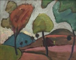 Gabriele Münter, Herbstliche Landstrasse, 1910, Privatsammlung © starkandartcom