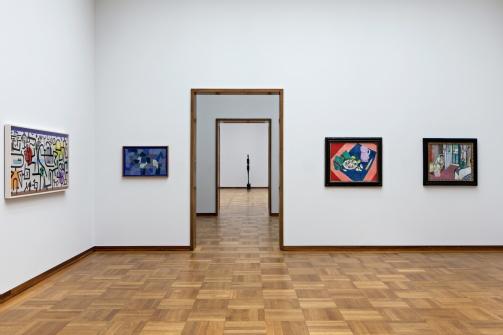 Sammlungspräsentation Kunstmuseum Basel | Hauptbau, 2. Obergeschoss, mit Werken von Paul Klee, Alberto Giacometti, Henri Matisse © Foto: Gina Folly