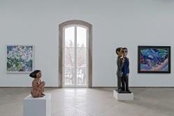 Sammlungspräsentation Kunstmuseum Basel | Hauptbau, 2. Obergeschoss, mit Werken von Augusto Giacometti, Albert Müller, Ernst Ludwig Kirchner © Foto: Gina Folly