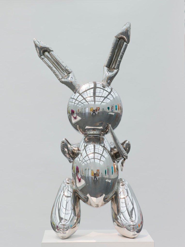 Jeff Koons, Rabbit, 1986 (104.1 x 48.3 x 30.5 cm; Edelstahl) © Museum of Contemporary Art Chicago, Foto: Nathan Keay