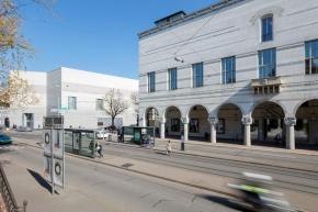 Das erweiterte Kunstmuseum Basel mit Neubau (links) und Hauptbau (rechts) ©Kunstmuseum Basel, Julian Salinas