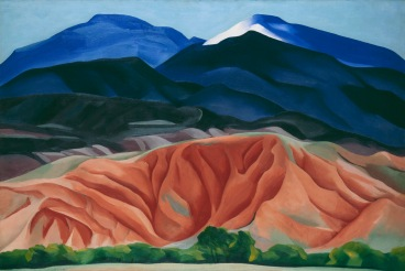 Georgia O'Keeffe,Black Mesa Landscape, New Mexico / Out Back of Marie's II, 1930. Oil on canvas mounted on board 24 1/4 x 36 1/4 (61.6 x 92.1) Georgia O'Keeffe Museum. Gift of The Burnett Foundation © 2016 Georgia O'Keeffe Museum/ DACS, London