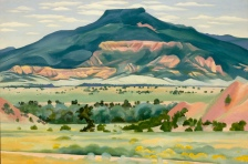 Georgia O'Keeffe, My Front Yard, Summer 1941. Oil paint on canvas, 509 x 765 mm. Georgia O'Keeffe Museum, Gift of The Georgia O'Keeffe Foundation © 2016 Georgia O'Keeffe Museum/DACS, London