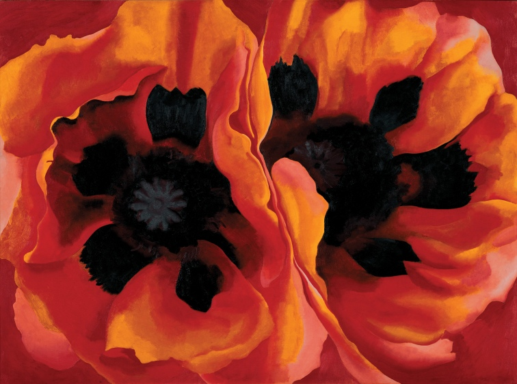 Georgia O'Keeffe, Oriental Poppies 1927, Oil paint on canvas, 762 x 1016 mm. Frederick R. Weisman Art Museum at the University of Minnesota, Minneapolis © 2016 Georgia O'Keeffe Museum/ DACS, London