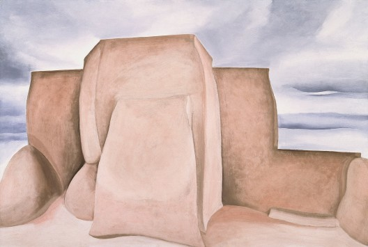 Georgia O'Keeffe, Ranchos Church, New Mexico, 1930-1. Oil paint on canvas, 622 x 914 mm. Amon Carter Museum of American Art, Fort Worth, Texas © 2016 Georgia O'Keeffe Museum/DACS, London