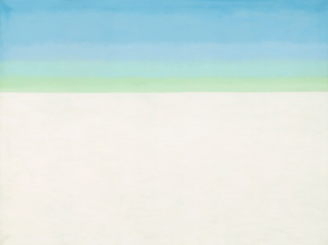 Georgia O'Keeffe, Sky with Flat White Cloud, 1962. Oil paint on canvas, 1524 x 2032 mm, National Gallery of Art, Washington, Alfred Stieglitz Collection, Bequest of Georgia O'Keeffe © 2016 Georgia O'Keeffe Museum/DACS, London