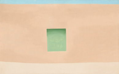 Georgia O'Keeffe, Wall with Green Door, 1953. Oil paint on canvas, 762 x 1226 mm. National Gallery of Art, Washington, Corcoran Collection © 2016 Georgia O'Keeffe Museum/DACS, London