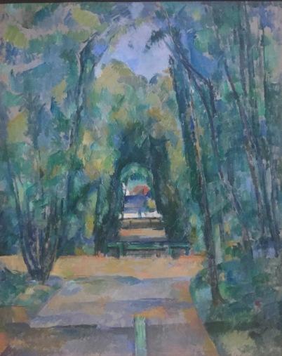 Paul Cézanne - Avenue in Chantilly, 1888 - National Portrait Gallery, London © starkandart