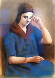 Bildnis von Olga Khokhlova, Picassos erste Ehefrau, Musée Picasso, Paris © Starkandart.com