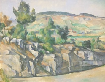 Paul Cézanne - Hügellandschaft in der Provence, 1890-2 - National Portrait Gallery, London © starkandart