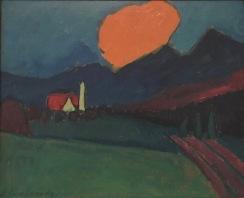 Alexej von Jawlensky, Murnau - Landschaft, orange Wolke, um 1909, Privatsammlung © starkandart.com