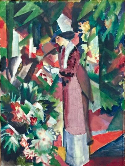 August Macke, Spaziergang mit Blumen, 1912, Staatliche Museen zu Berlin, Nationalgalerie © starkandart.com