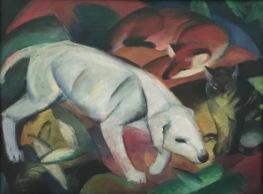 Franz Marc, Drei Tiere (Hund, Katze und Fuchs), 1912, Kunsthalle Mannheim © starkandart.com