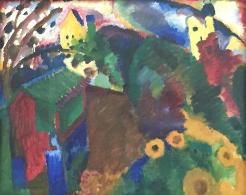 Wassiliy Kandinsky, Murnau - Garten I, 1910, Städtische Galerie im Lenbachhaus, München © starkandart.com