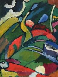 Wassily Kandinsky, Detail aus Zwei Reiter und liegende Gestalt, 1909/10, Merzbacher Kunststiftung © starkandart.com