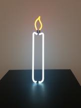 Gavin Turk, Neon Candle, 2013, Courtesy Galerie Krinzinger Wien © starkandart.com