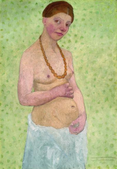 Paula Modesohn-Becker, Selbstbildnis am 6. Hochzeitstag, 1906, Museen Böttcherstraße, Paula Modersohn-Becker Museum, Bremen