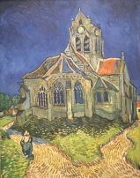 Vincent van Gogh, Die Kirche von Anvers-sur-Oise, vom Bett aus gesehen, 1890, Musée d'Orsay, Paris © starkandart.com