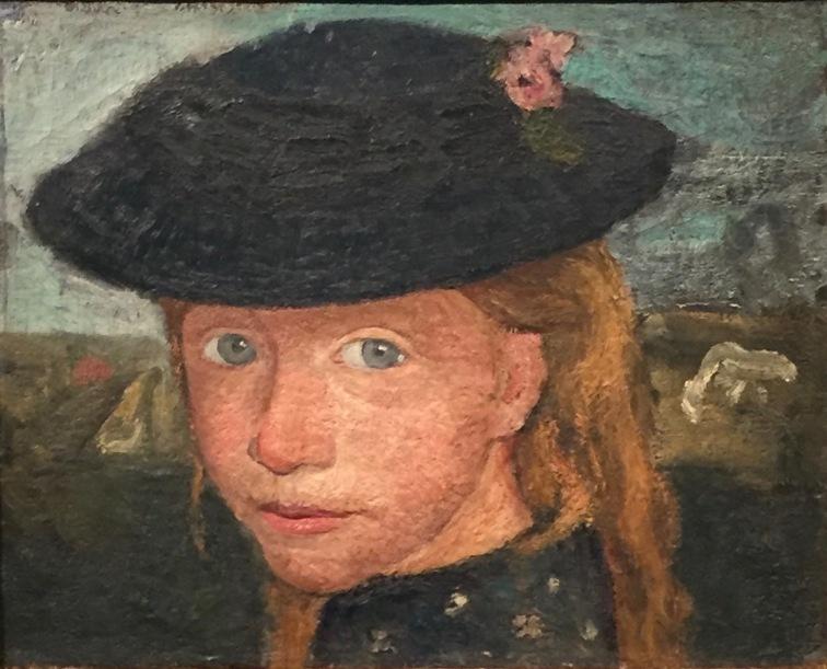 Paula Modersohn-Becker, Kopf eines blonden Mädchens mit Strohut, um 1904 © starkandart.com