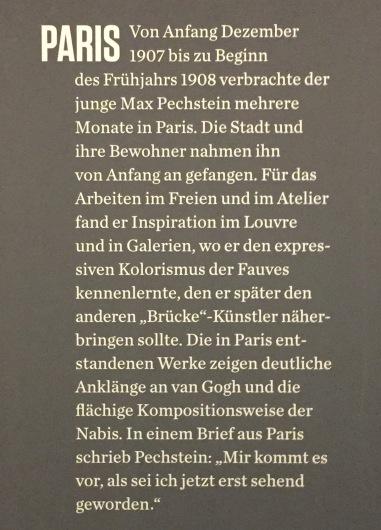 Max Pechstein - Saaltext zu Paris ©starkandart.com