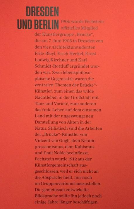 Max Pechstein Ausstellung - Saaltext Dresden und Berlin ©starkandart.com