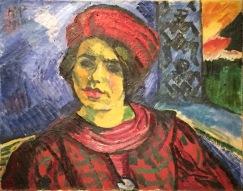 Max Pechstein - Junge Frau mit rotem Turban, 1910, Öl auf Leinwand, Kunstmuseum Bern ©starkandart.com