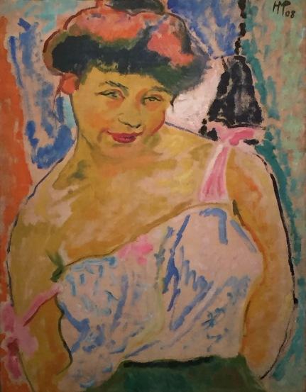 05 Max Pechstein - Junges Mädchen, 1908, Öl auf Leinwand, Brücke-Museum Berlin ©starkandart.com