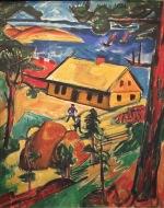 Max Pechstein - Neues Haus, 1919, Öl auf Leinwand, Brücke-Museum Berlin ©starkandart.com.jpg