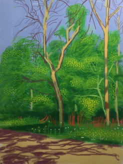 David Hockney, The Arrival of Spring in Woldgate, East Yorkshire in 2011, 27 April 2011, Galerie Lelong und Co © starkandart.com