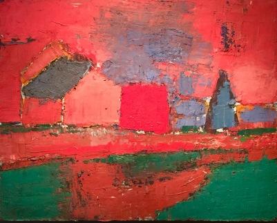 Nicolas De Staël, Arbres et maisons (Paysage), 1953, Galerie Applicat-Prazan, Paris © starkandart.com