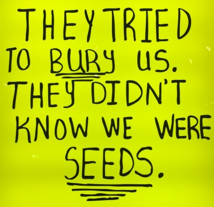 Sam Durant: They tried to bury us, they didn't know were seeds, 2016, Blum & Poe Gallery © starkandart.com