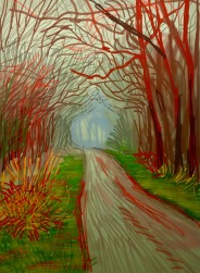 David Hockney, The Arrival of Spring in Woldgate, East Yorkshire in 2011, 13 January,2011, Galerie Lelong ©starkandart.com