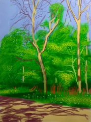 David Hockney, The Arrival of Spring in Woldgate, East Yorkshire in 2011, 27 April, 2011, Galerie Lelong ©starkandart.com