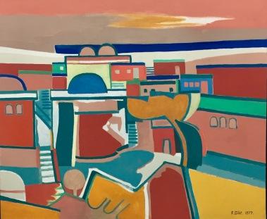 Françoise Gilot, Oriental City II , 1977, Sammlung Szalóky ©starkandart.com