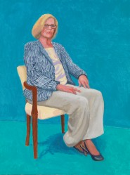David Hockney - Dagny Corcoran, 15th, 16th, 17th January 2014, Acrylic on canvas 121.9 x 91.4 cm © David Hockney Photo credit: Richard Schmidt