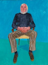 David Hockney John Baldessari, 13th, 16th December 2013 Acrylic on canvas 121.9 x 91.4 cm © David Hockney Photo credit: Richard Schmidt