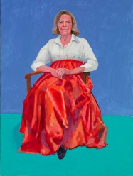 David Hockney Rita Pynoos, 1st, 2nd March 2014 Acrylic on canvas 121.9 x 91.4 cm © David Hockney Photo credit: Richard Schmidt