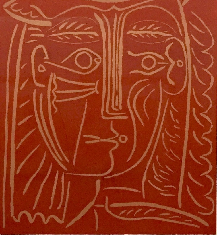 Pablo Picasso, Detail von Frauenkopf mit Hut, 1962, Kunstmuseum Pablo Picasso Münster © starkandart.com