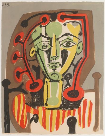Pablo Picasso_Figure au corsage rayé_1949