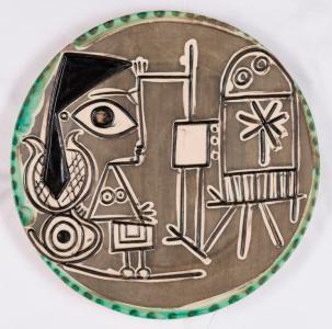 Pablo Picasso, Jacqueline au chevalet, Keramik, 138/200, Ø 42 cm, 1956, Ramié 33 © Succession Picasso / VG Bild-Kunst, Bonn 2017