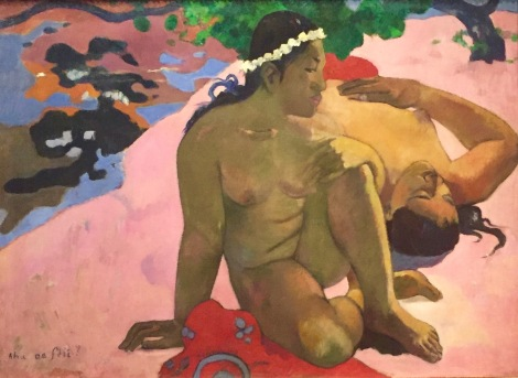 Paul Gauguin, Aha oé feii ? (Was, bist du eifersüchtig?), Tahiti, Papeete, Sommer 1892, Puschkin Museum, Moskau © starkandart.com