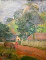 Paul Gauguin, Landschaft (Ein Pferd auf der Straße, Tahiti) Tahiti, Papeete,1899 - Puschkin Museum, Moskau © starkandart.com