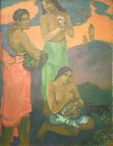 Paul Gauguin, Woman on the Seashore (Motherhood) Tahiti, Papeete,1899 - Eremitage, St. Petersburg © starkandart.com