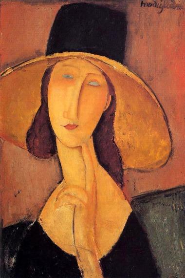"Amedeo Modigliani – ""Porträt der Jeanne Hébuterne mit großem Hut"", 1917 © Medea Film"