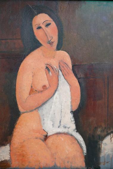 """Amedeo Modigliani – """"Sitzender Akt mit einem Hemd"""", 1917 © Medea Film"""