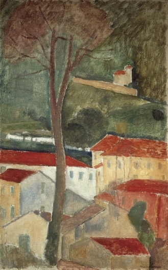Amedeo Modigliani: Landschaft bei Cagnes, ca. 1919, Private Collection