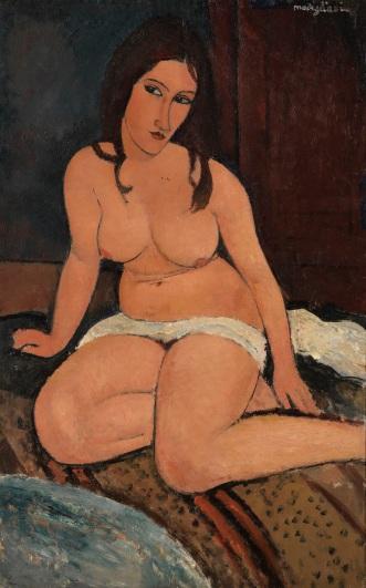 Amedeo Modigliani, Seated Nude, 1917, Koninklijk Museum voor Schone Kunsten, Antwerpen, Belgien