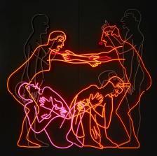 Bruce Nauman, Sex and Death by Murder and Suicide, 1985. Neonröhren auf Aluminium montiert. Emanuel Hoffmann-Stiftung, Depositum in der Öffentlichen Kunstsammlung Basel, Foto: Bisig & Bayer, Basel © Bruce Nauman / 2018, ProLitteris, Zurich